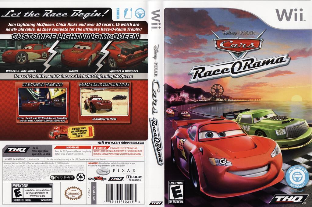 Cars Race-O-Rama Wii coverfullHQ (R6OE78)