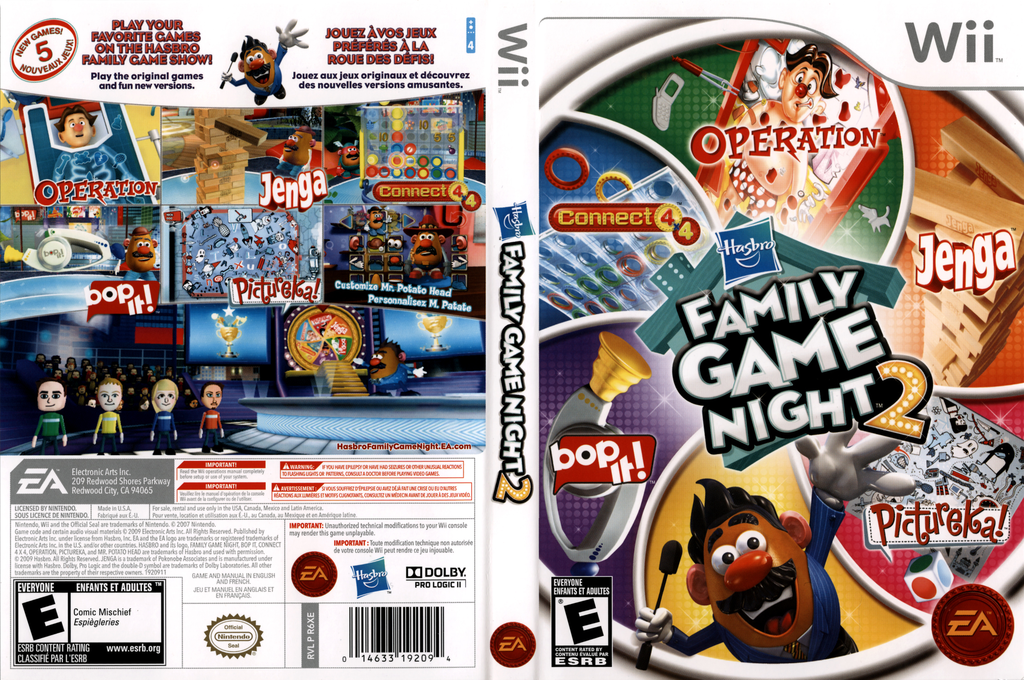 Hasbro: Family Game Night 2 Wii coverfullHQ (R6XE69)