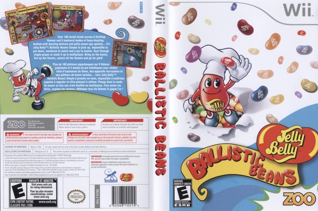 Jelly Belly Ballistic Beans Wii coverfullHQ (R7BE20)