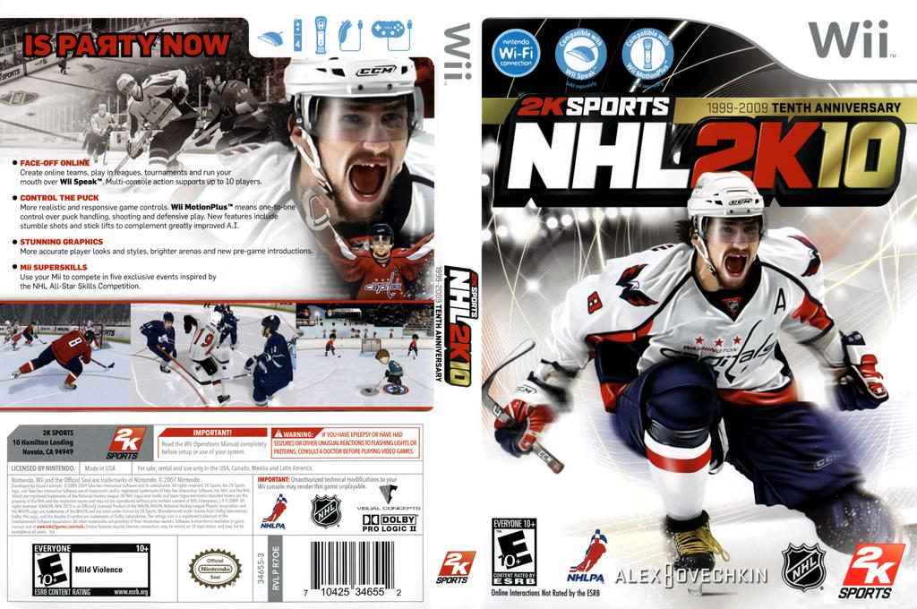 NHL 2K10 Wii coverfullHQ (R7OE54)