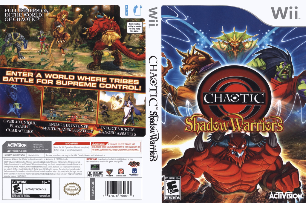 Chaotic: Shadow Warriors Wii coverfullHQ (R7QE52)