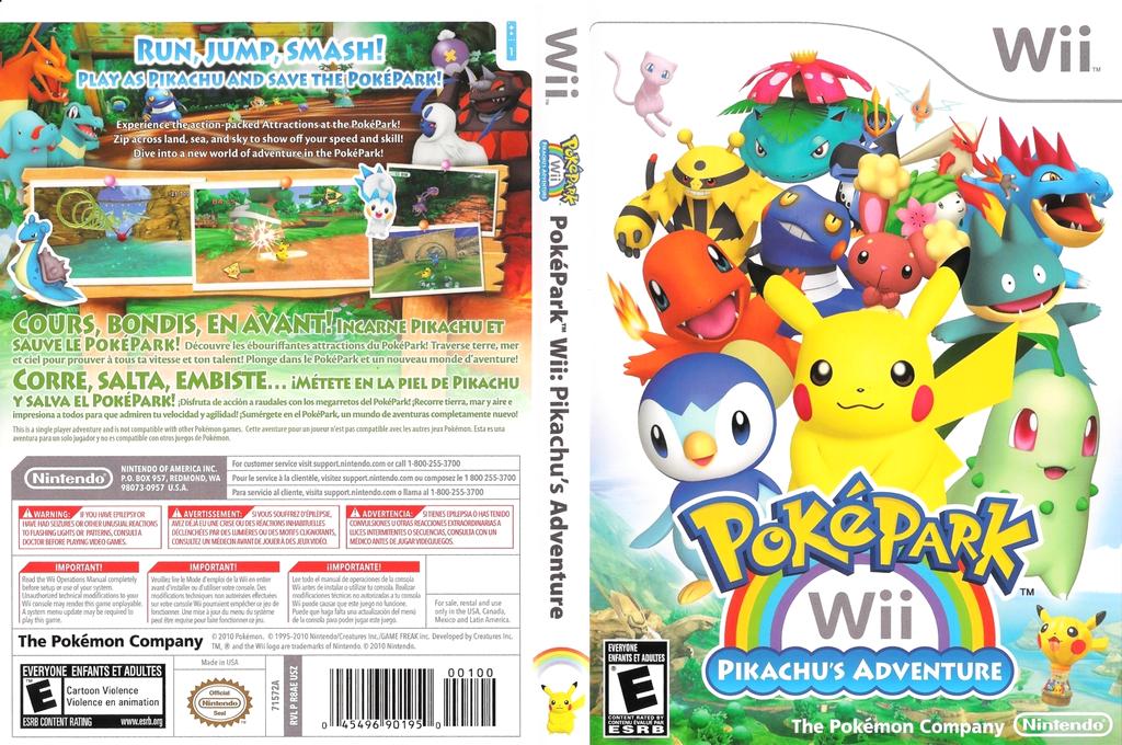 PokéPark Wii: Pikachu's Adventure Wii coverfullHQ (R8AE01)