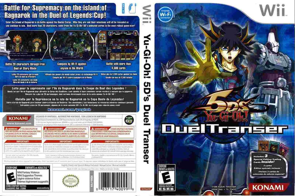Yu-Gi-Oh! 5D's: Duel Transer Wii coverfullHQ (R8DEA4)