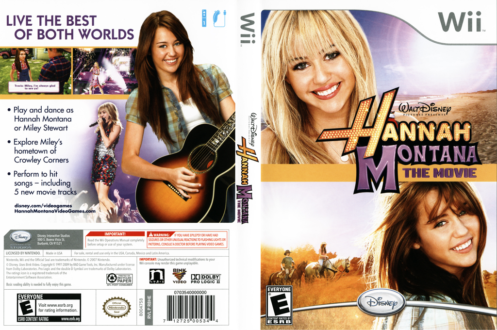 Hannah Montana: The Movie Wii coverfullHQ (R8HE4Q)