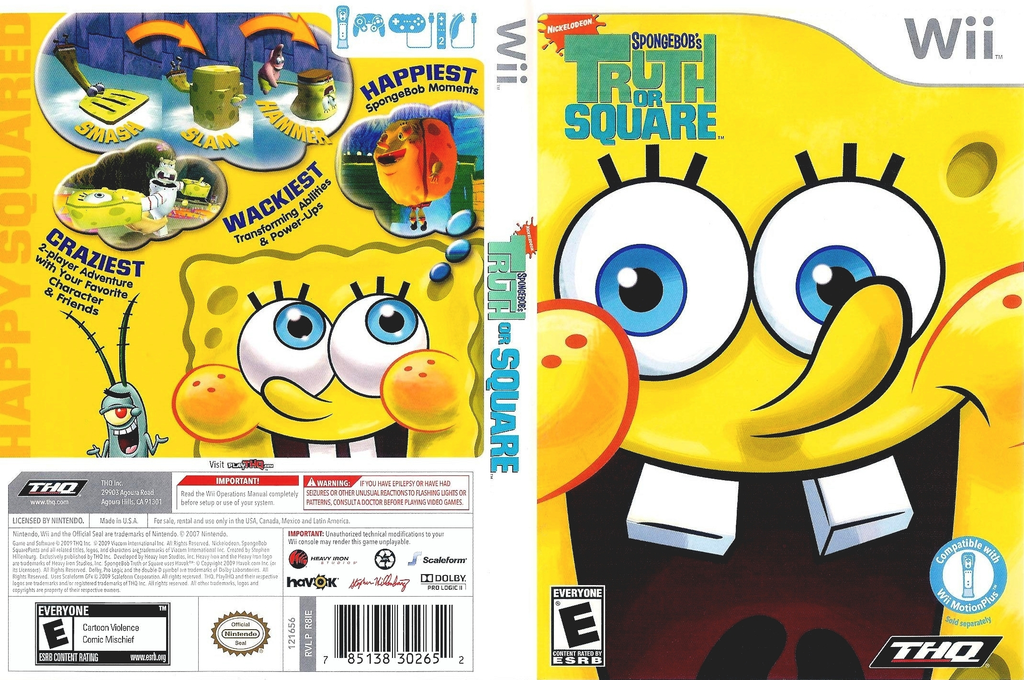 SpongeBob's Truth or Square Wii coverfullHQ (R8IE78)