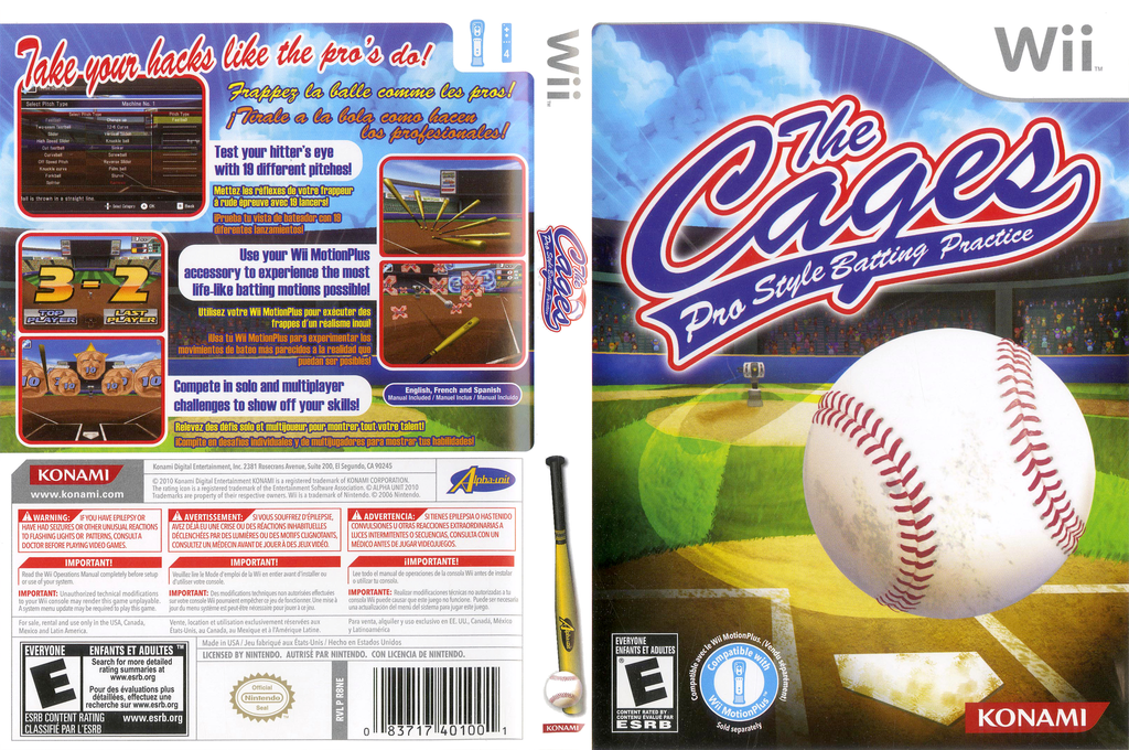 The Cages: Pro Style Batting Practice Wii coverfullHQ (R8NEA4)