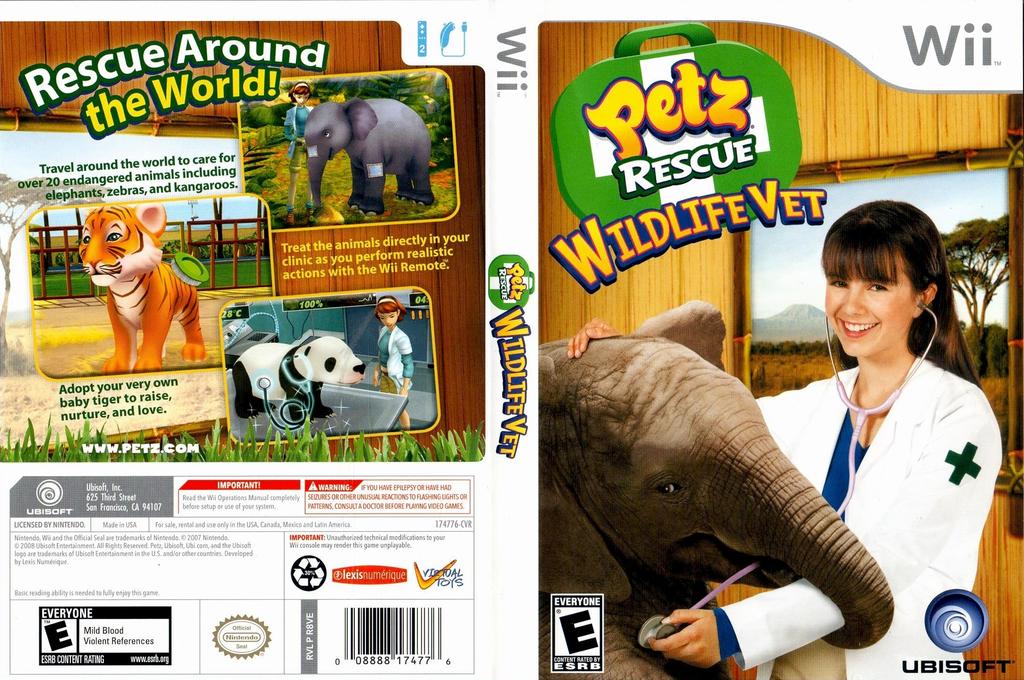 Petz Rescue: Wildlife Vet Wii coverfullHQ (R8VE41)
