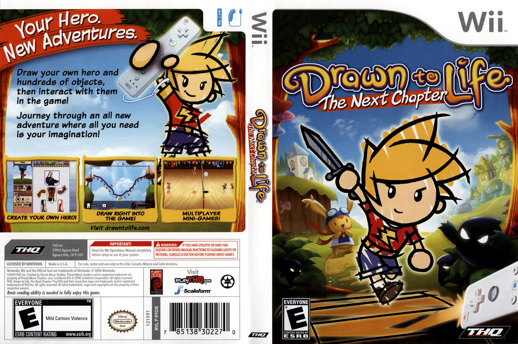 Drawn to Life: The Next Chapter Wii coverfullHQ (R9DE78)