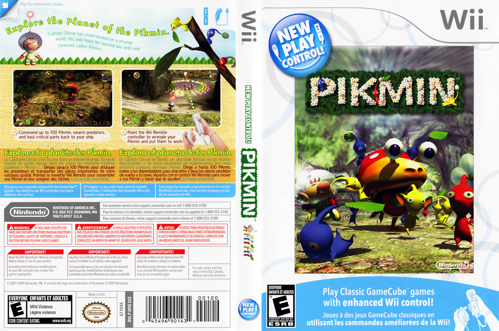 Pikmin Wii coverfullHQ (R9IE01)