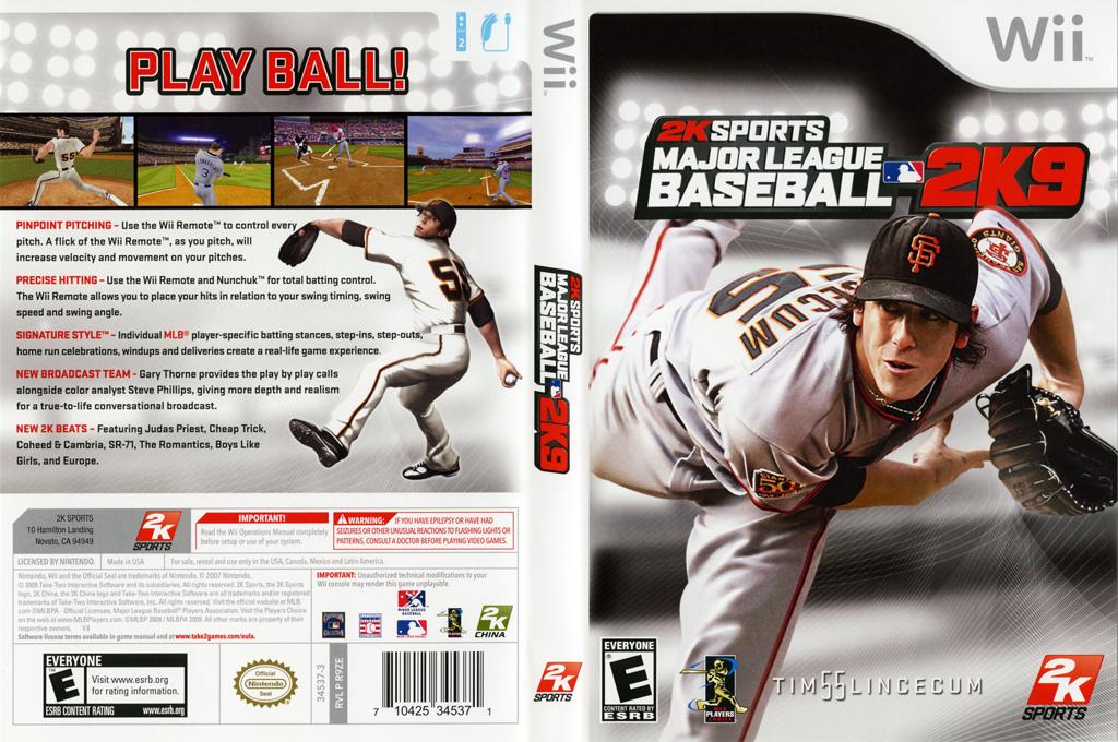 Major League Baseball 2K9 Wii coverfullHQ (R9ZE54)