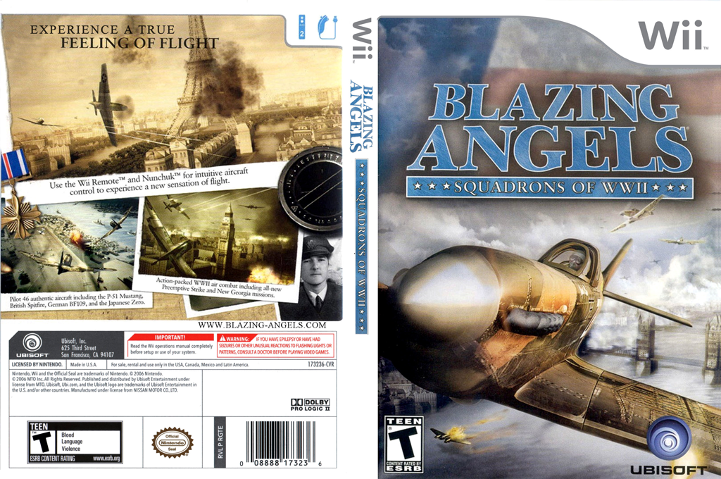 Blazing Angels: Squadrons of WWII Wii coverfullHQ (RBAE41)