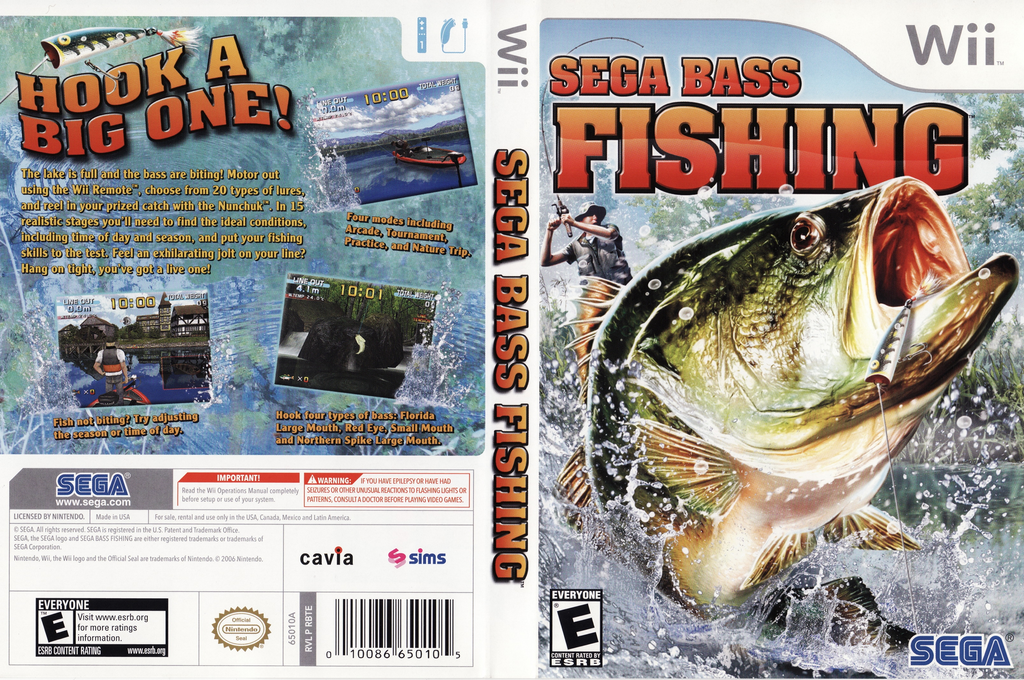 Rbte8p sega bass fishing for Wii fishing games