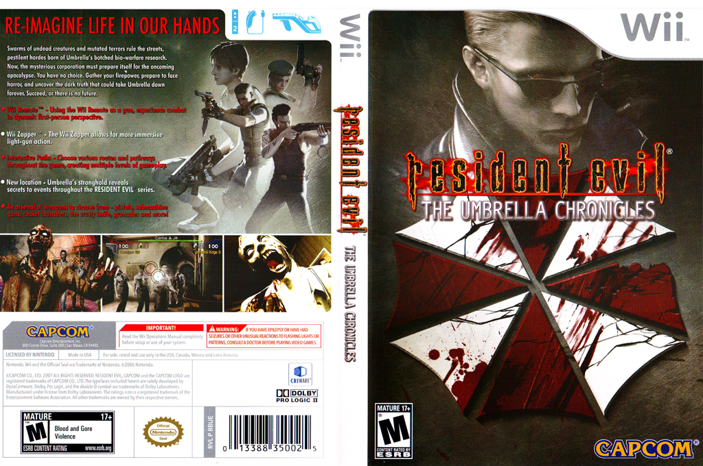Resident Evil: The Umbrella Chronicles Wii coverfullHQ (RBUE08)