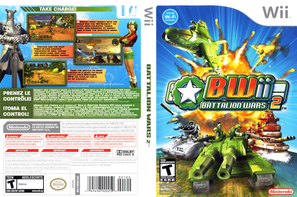 Battalion Wars 2 Wii coverfullHQ (RBWE01)
