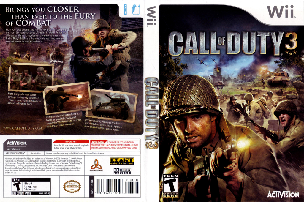 Call of Duty 3 Wii coverfullHQ (RCDE52)
