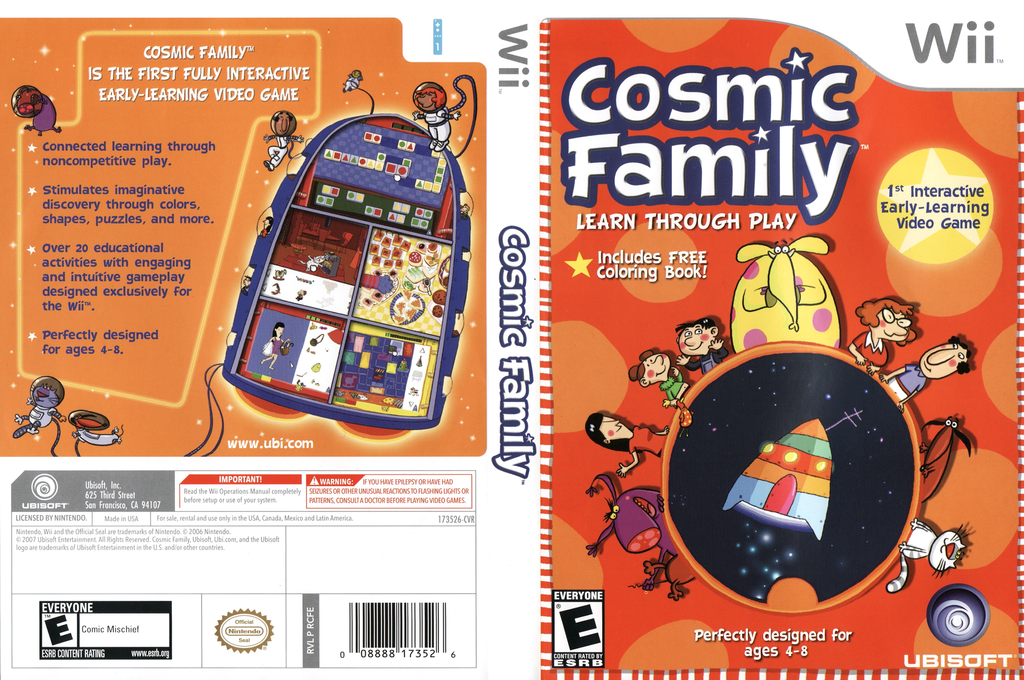 Cosmic Family Wii coverfullHQ (RCFE41)