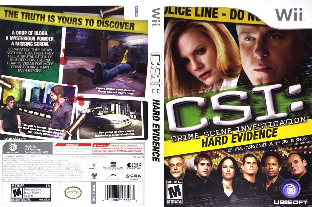 CSI: Hard Evidence Wii coverfullHQ (RCIE41)