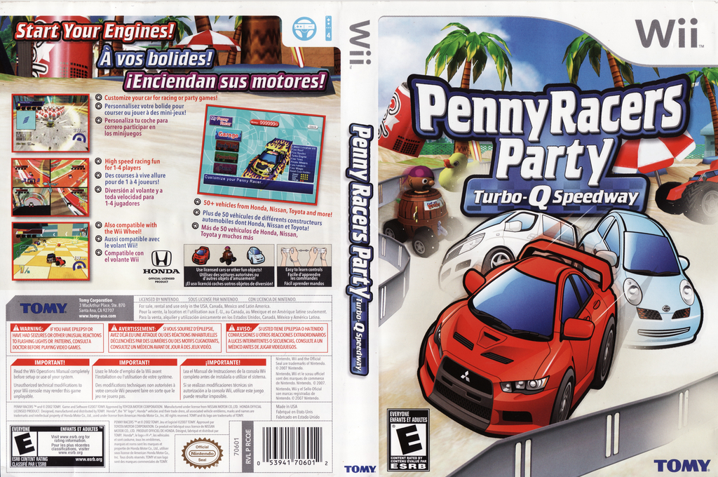 Penny Racers Party: Turbo-Q Speedway Wii coverfullHQ (RCQEDA)