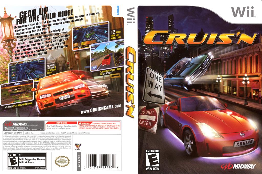 Cruis'n Wii coverfullHQ (RCRE5D)