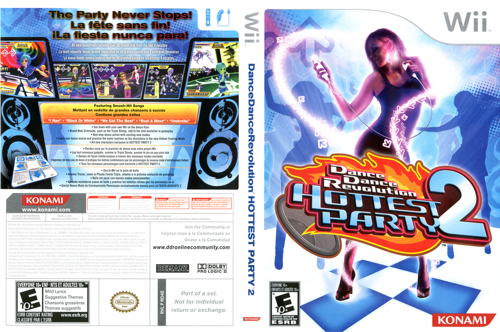 Dance Dance Revolution: Hottest Party 2 Wii coverfullHQ (RD4EA4)