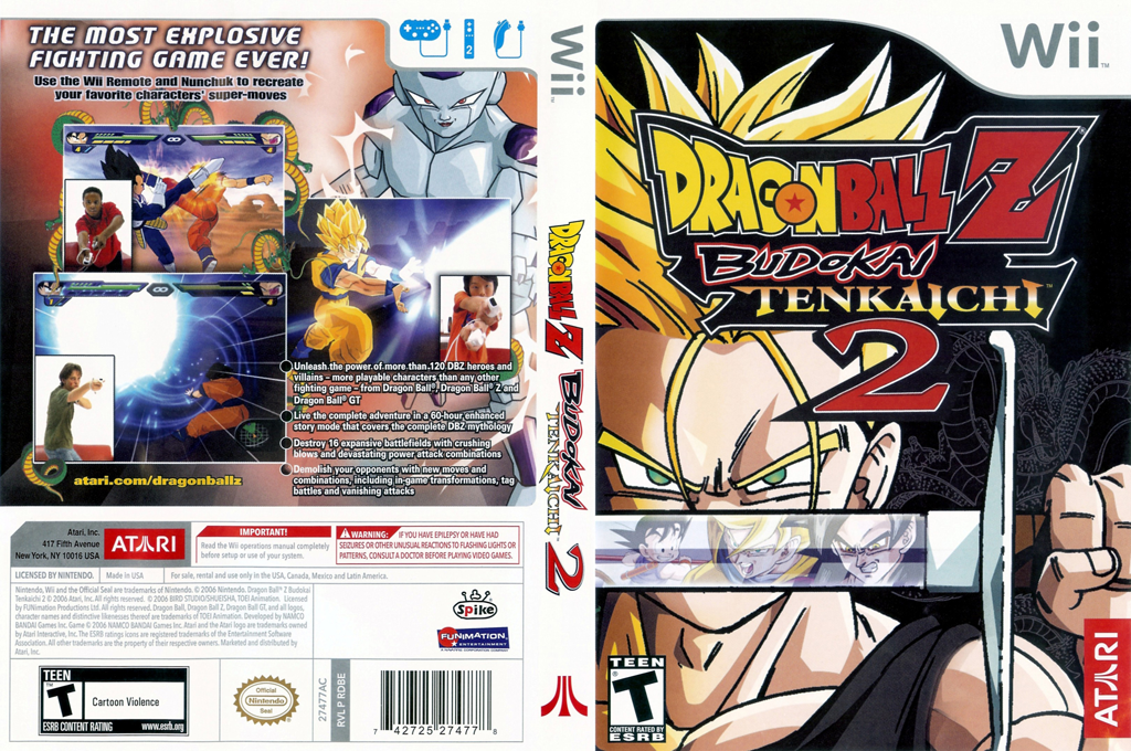 Dragon Ball Z: Budokai Tenkaichi 2 Wii coverfullHQ (RDBE70)