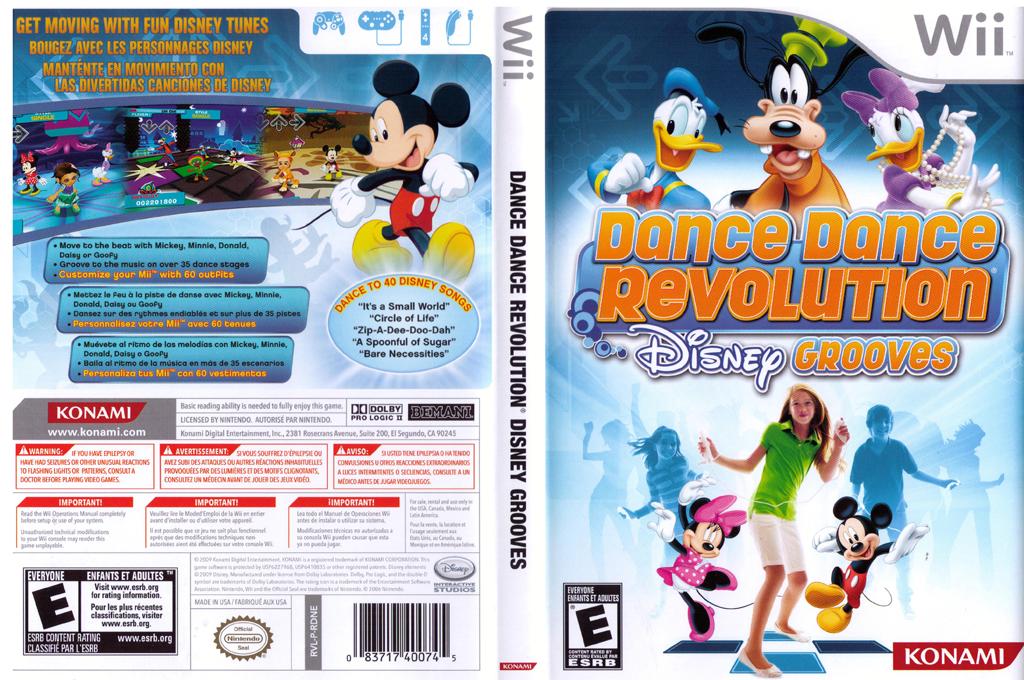 Dance Dance Revolution: Disney Grooves Wii coverfullHQ (RDNEA4)