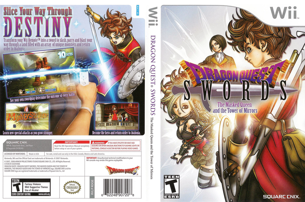 Dragon Quest Swords: The Masked Queen and The Tower of Mirrors Wii coverfullHQ (RDQEGD)