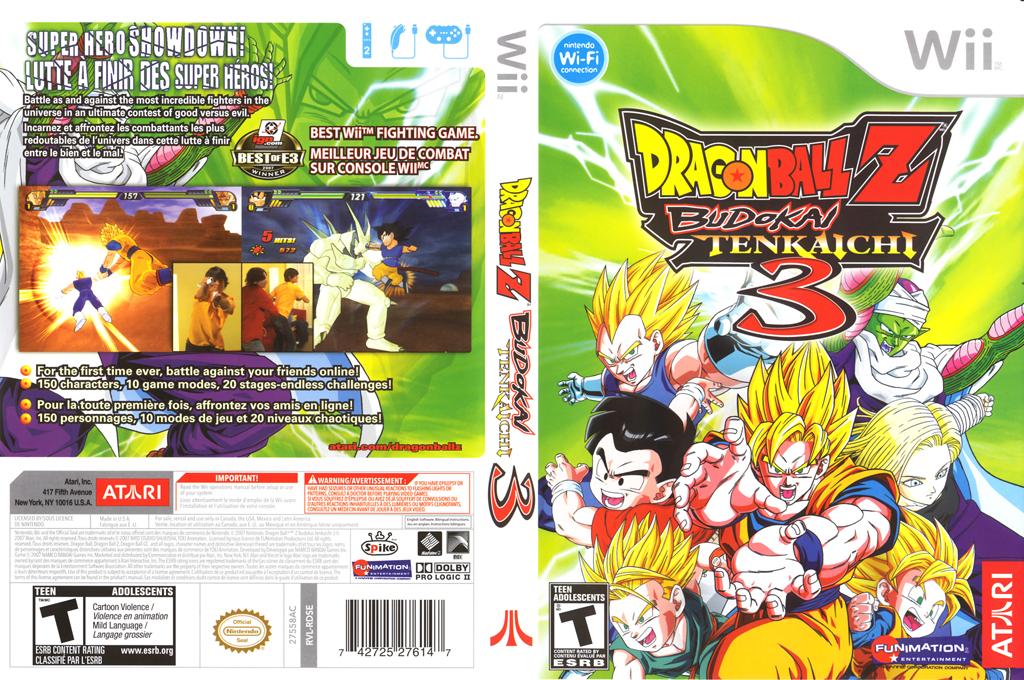 Dragon Ball Z: Budokai Tenkaichi 3 Wii coverfullHQ (RDSE70)