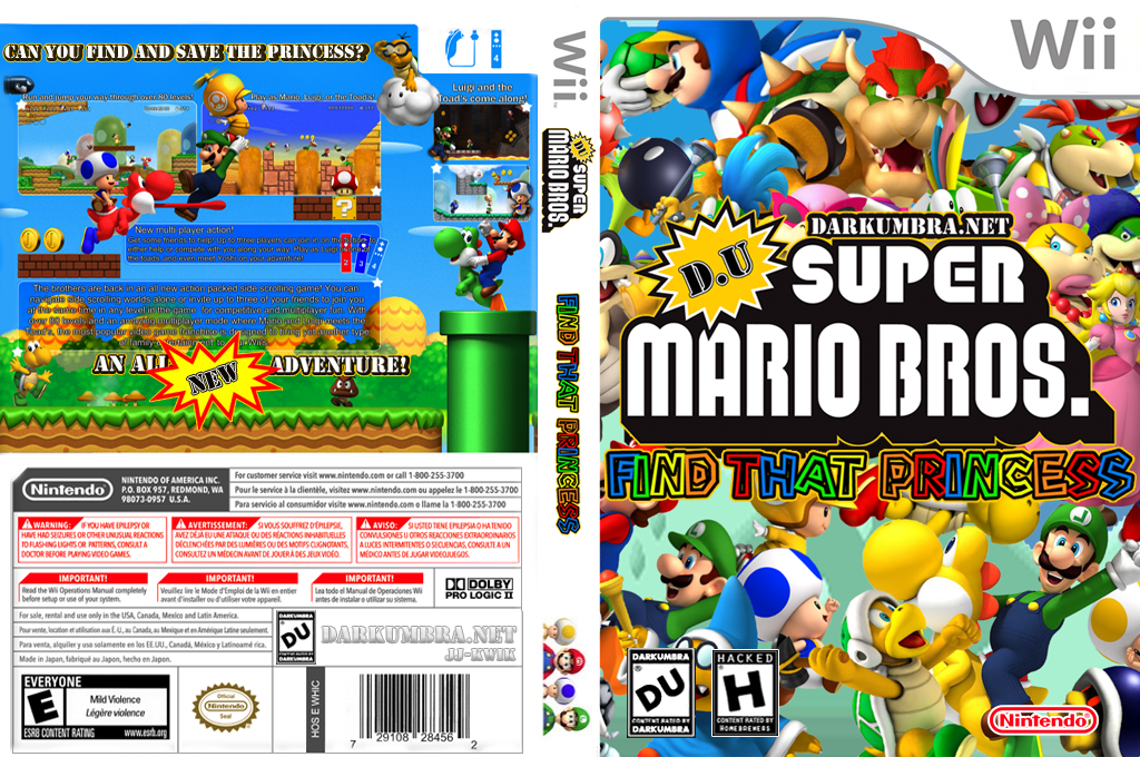 DU Super Mario Bros. : Find That Princess Wii coverfullHQ (RDUE01)