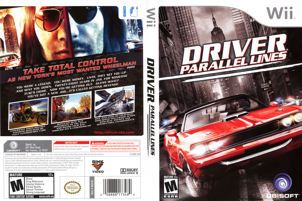 Driver: Parallel Lines Wii coverfullHQ (RDVE41)