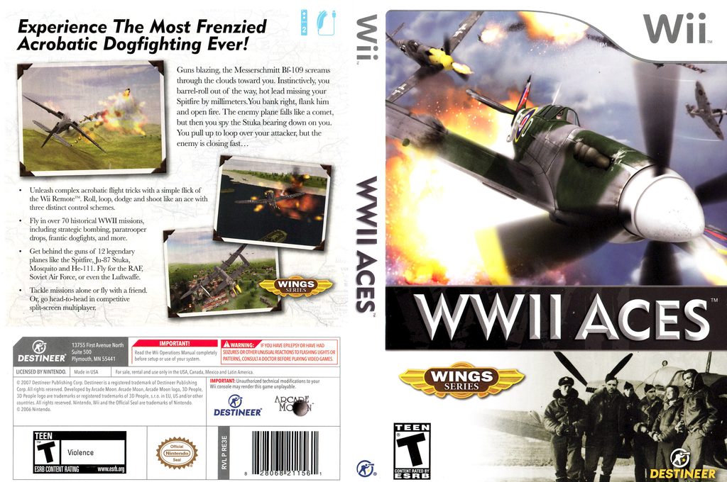 WWII Aces Wii coverfullHQ (RE3ENR)