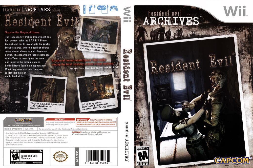 Resident Evil Archives: Resident Evil Wii coverfullHQ (RE4E08)