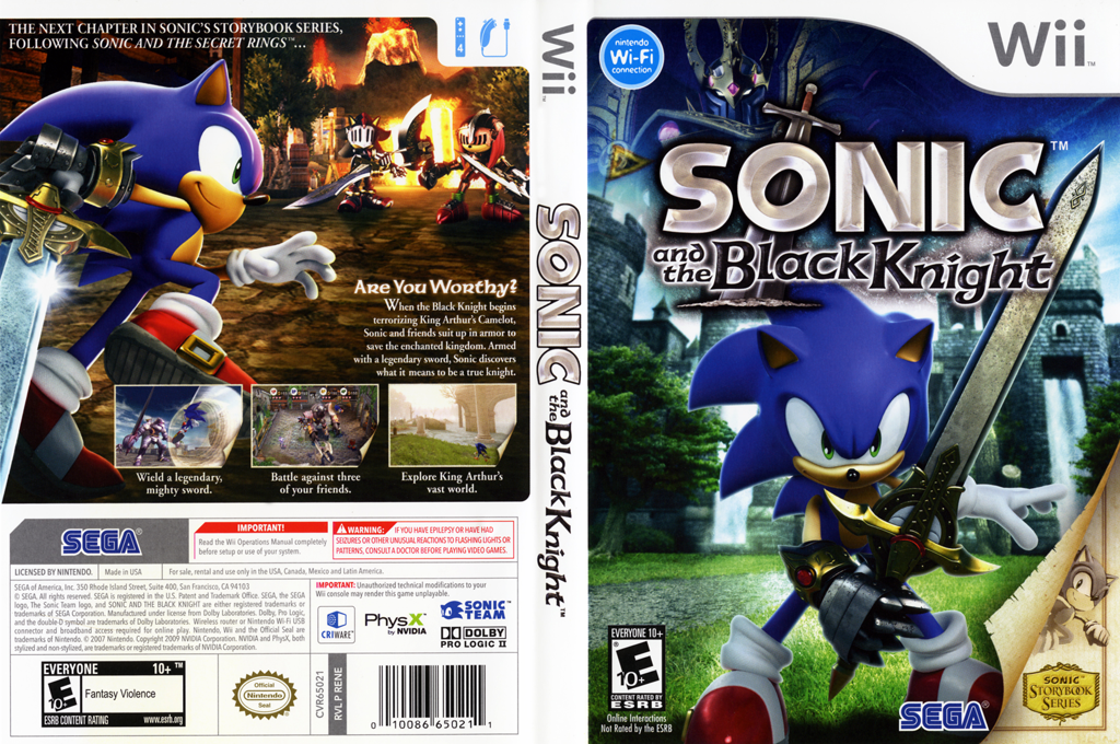 Sonic and the Black Knight Wii coverfullHQ (RENE8P)