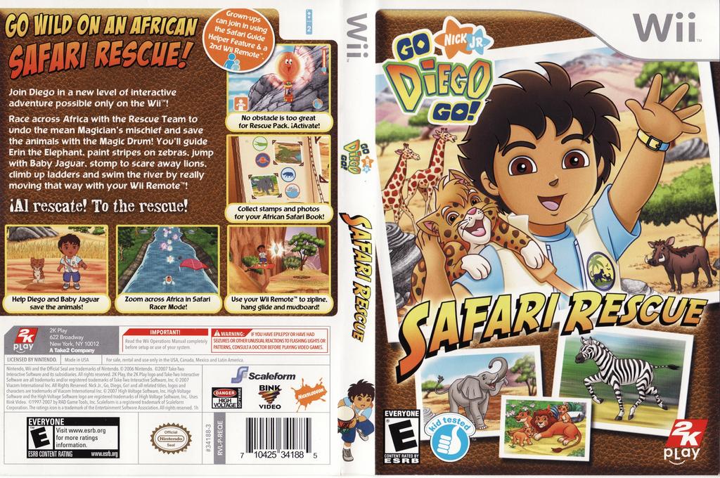 Go, Diego, Go! Safari Rescue Wii coverfullHQ (REQE54)