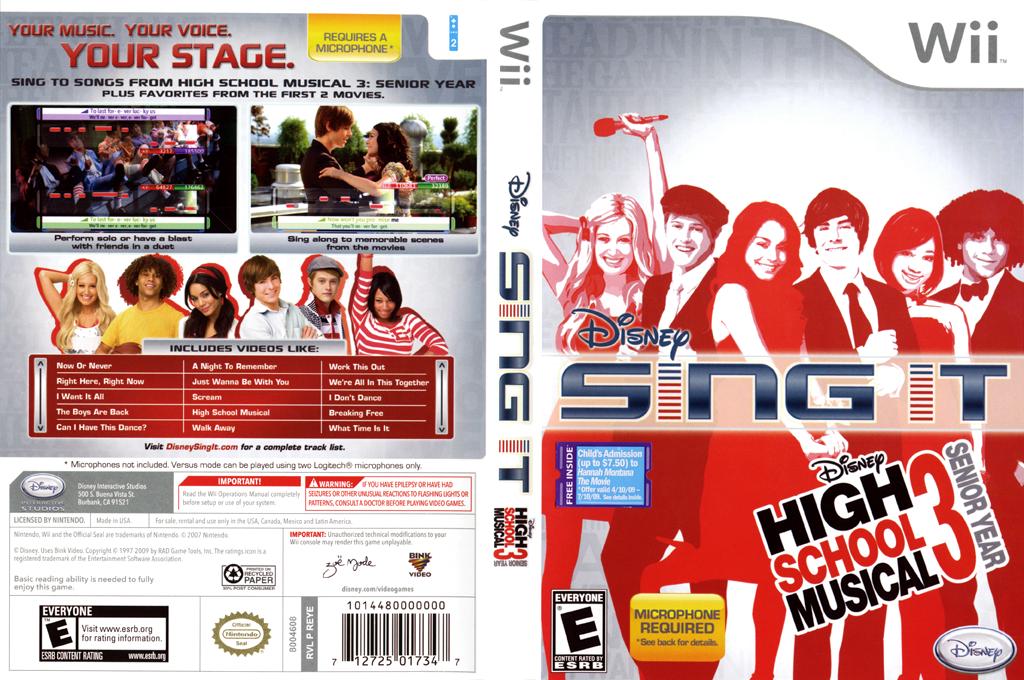 Disney Sing It: High School Musical 3 Senior Year Wii coverfullHQ (REYE4Q)
