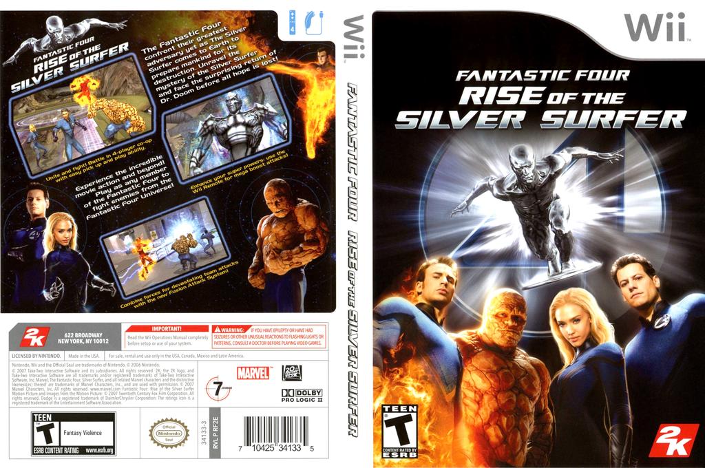 Fantastic Four: Rise of the Silver Surfer Wii coverfullHQ (RF2E54)