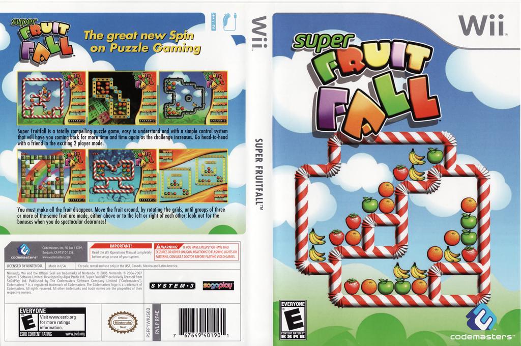 Super Fruit Fall Wii coverfullHQ (RF4E36)