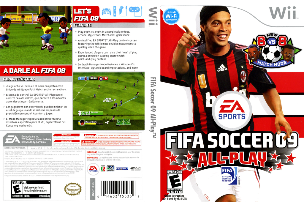 FIFA Soccer 09 All-Play Wii coverfullHQ (RF9E69)