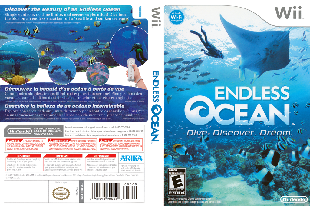 Endless Ocean Wii coverfullHQ (RFBE01)