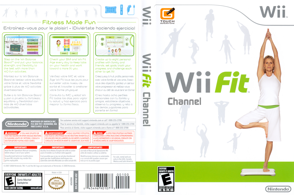 Wii Fit Channel Wii coverfullHQ (RFNE)