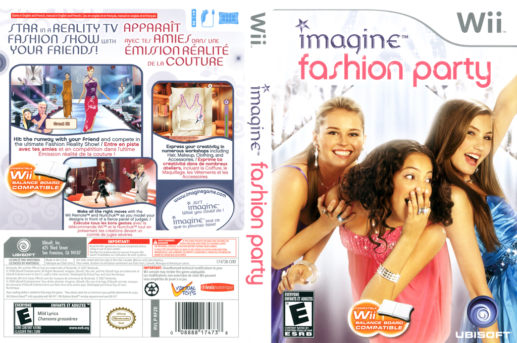 Imagine Fashion Party Wii coverfullHQ (RFZE41)