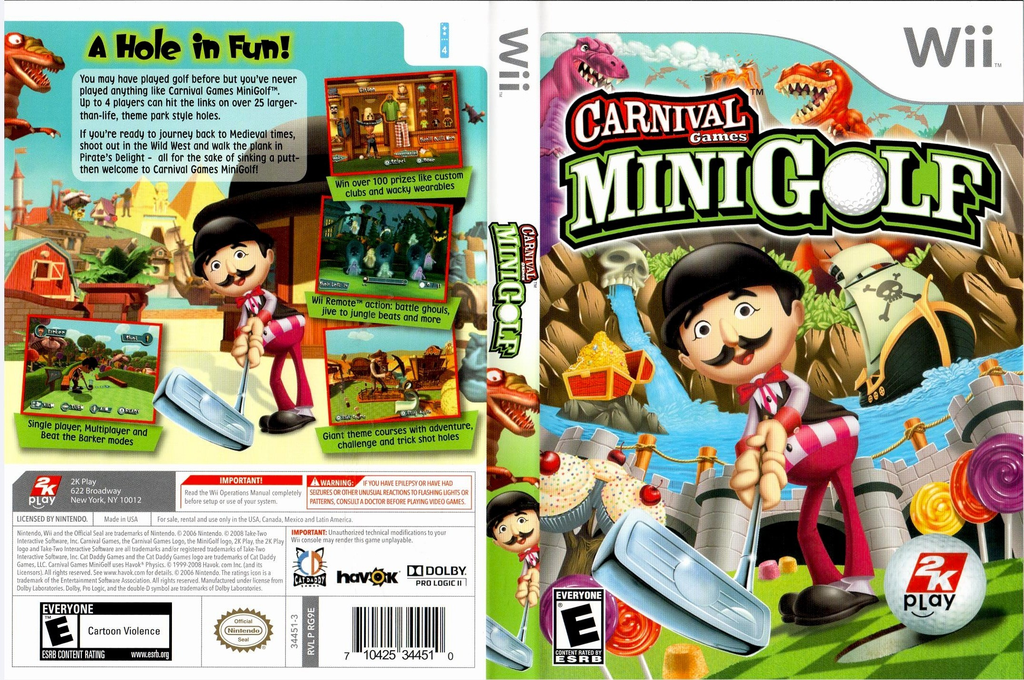 Carnival Games: Mini Golf Wii coverfullHQ (RG9E54)