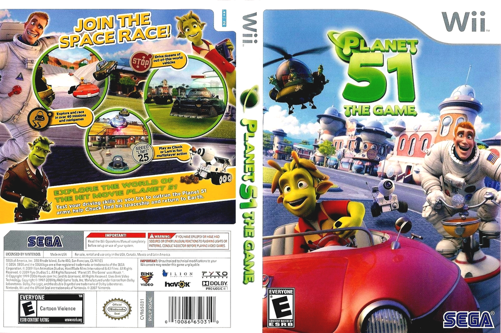 Planet 51: The Game Wii coverfullHQ (RGAE8P)