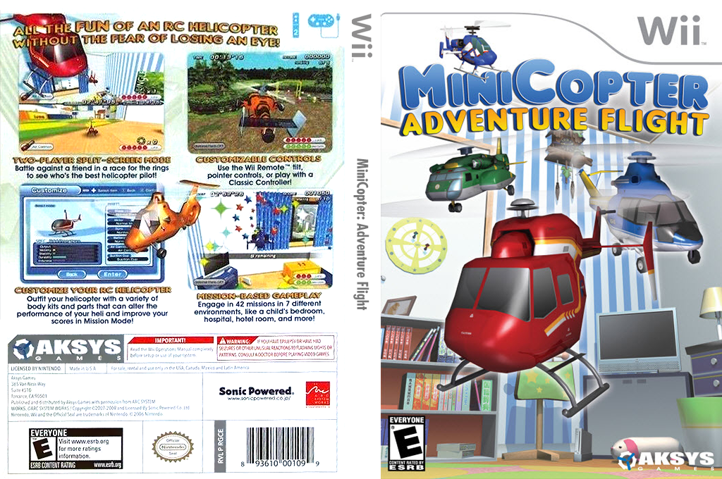 MiniCopter: Adventure Flight Wii coverfullHQ (RGCEXS)
