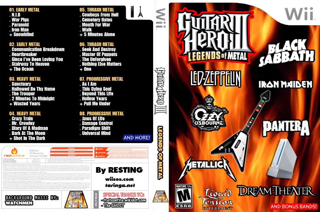 Guitar Hero III Custom:Legends of METAL Wii coverfullHQ (RGHE69)