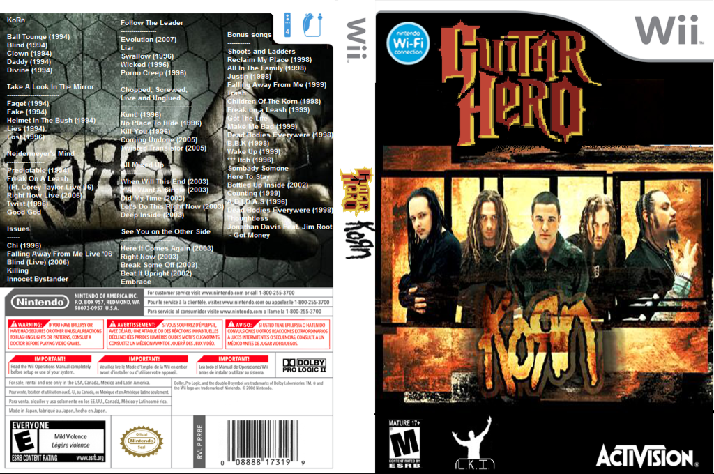 Guitar Hero III Custom : KoRn Wii coverfullHQ (RGKE52)