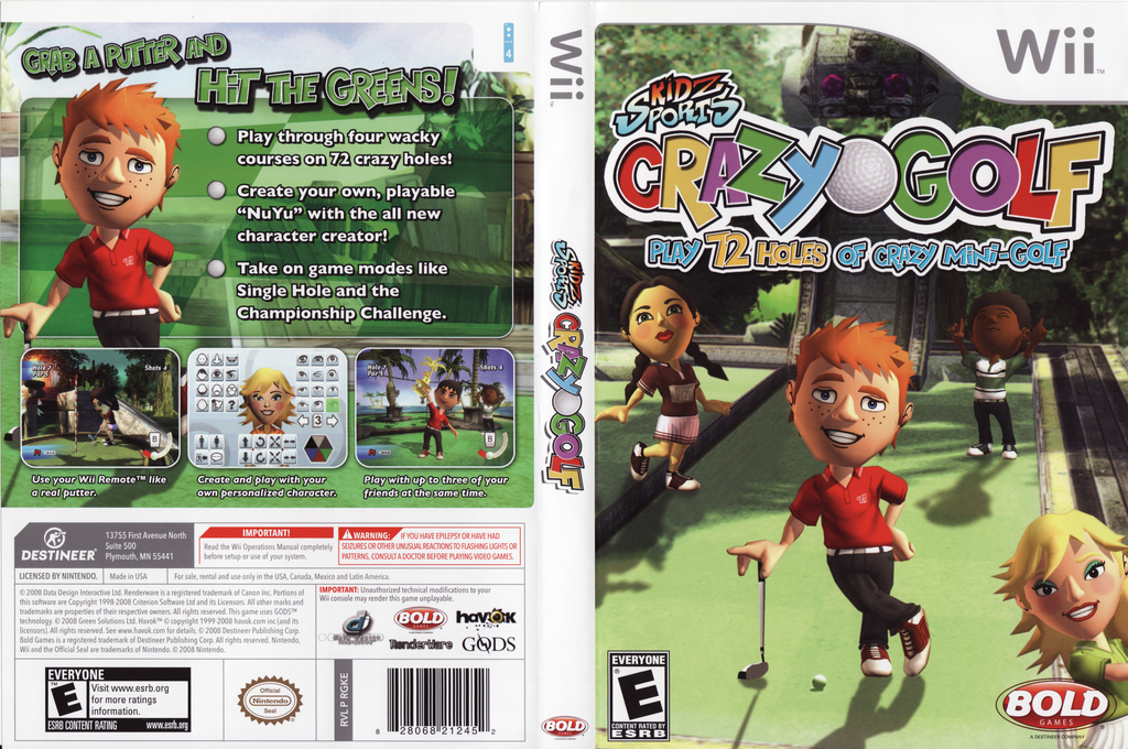 Kidz Sports: Crazy Golf Wii coverfullHQ (RGKENR)