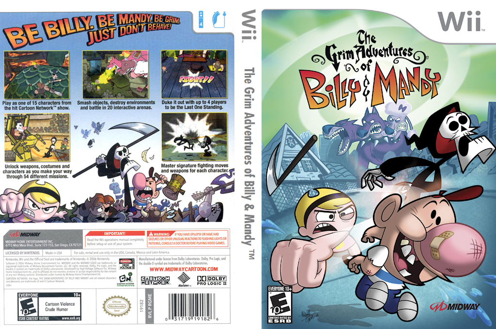 The Grim Adventures of Billy & Mandy Wii coverfullHQ (RGME5D)