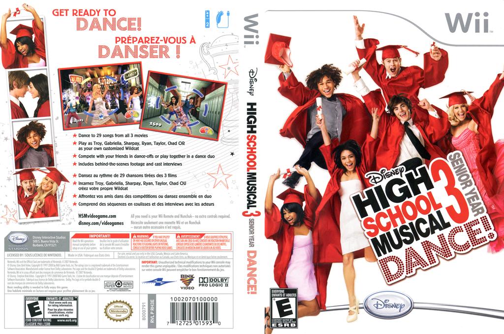 High School Musical 3: Senior Year Dance! Wii coverfullHQ (RH3E4Q)