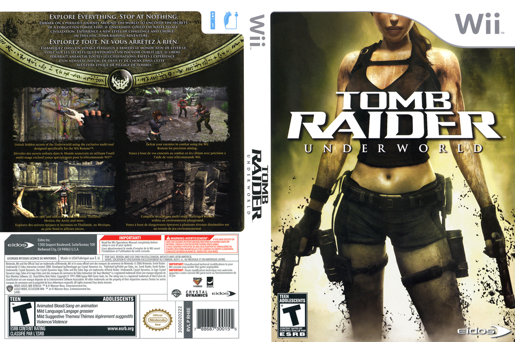 Tomb Raider: Underworld Wii coverfullHQ (RH8E4F)